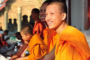 Vientiane i Luang Prabang, Laos - 03.2011