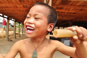 Wioski Akha, Muang Sing, Laos - 04.2011