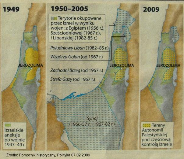 Tereny okupowane przez Izrael