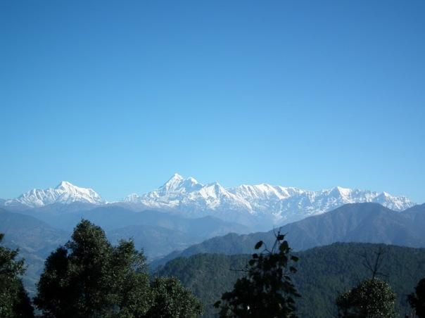 Widoki z autobusu w Uttarakhand