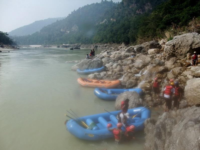 Rafting na Gangesie
