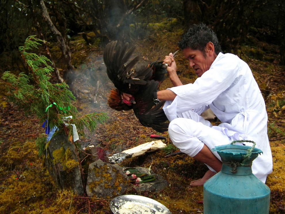 Wioskowy szaman w Himalajach