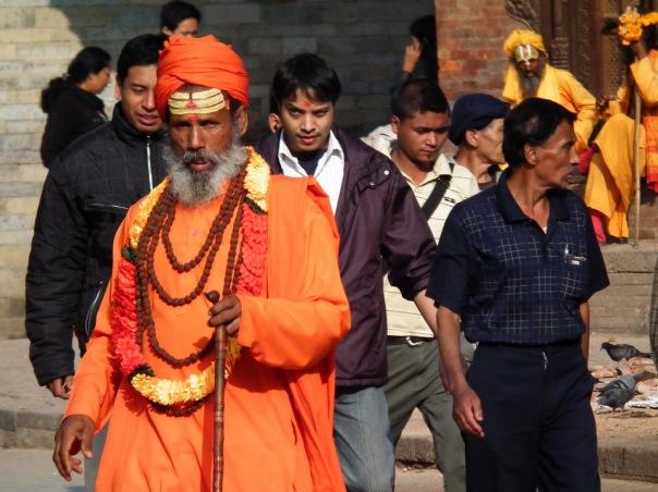 fałszywy sadhu w Katmandu