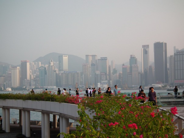 Widok na wyspę Hong Kong z Kowloon