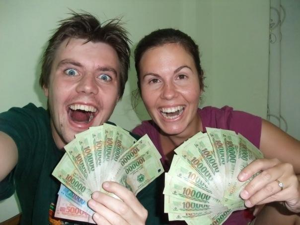 I wanna be a millionaire...