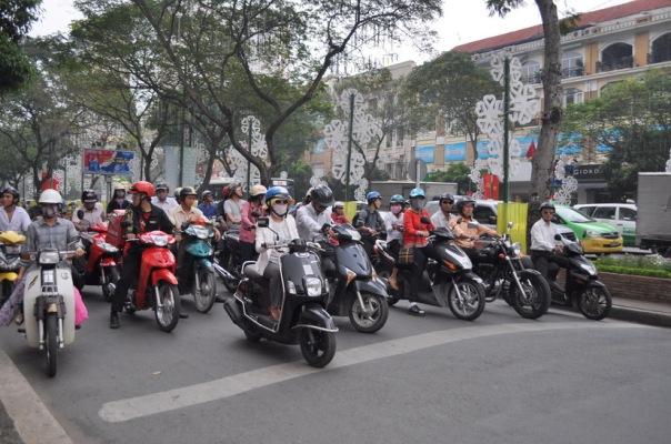 Rzeka skuterów w Sajgonie