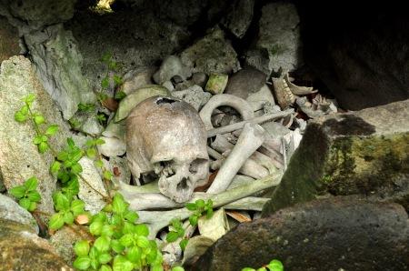 Pozostałości po nieszczęśliwcach z Choiseul, którzy żywcem wpadli w ręce Marovańczyków i skończyli na ofiarnym stole