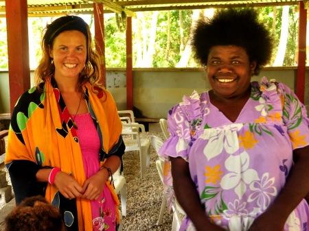 Podziękowania dla pary białasów od najbardziej natchnionej z pastorów po najciekawszej mszy, w jakiej w życiu uczestniczyliśmy - Efate, Vanuatu