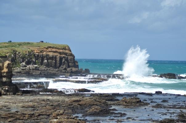 Fale na krańcu Wyspy Południowej