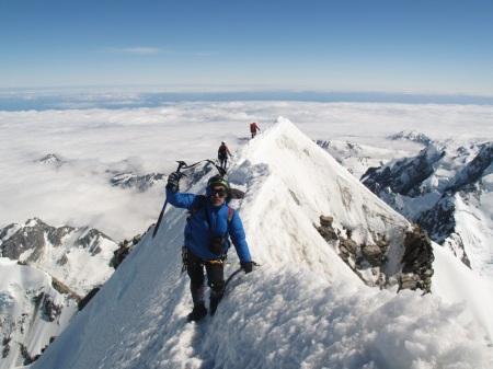Chłopaki na szczycie Mt Cook