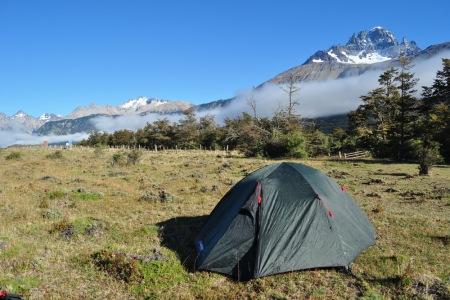 Poranek pod Cerro Castillo