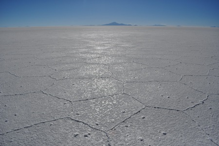 Salar de Uyuni i Tunupa w tle