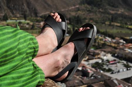 Klapki z opony - krzyk mody na Altiplano